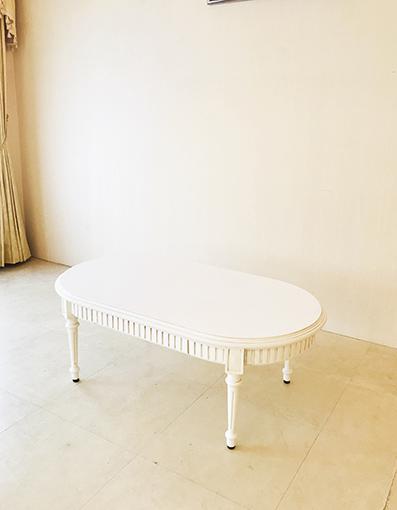マダム・ココ センターテーブル オーバル W110 引出し付