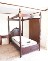 クラシック 天蓋ベッド シングルサイズ アッパーイーストサイドスタイル マホガニー色