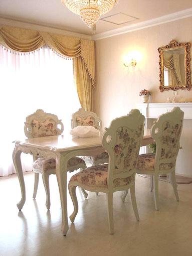 ダイニングテーブル 白家具