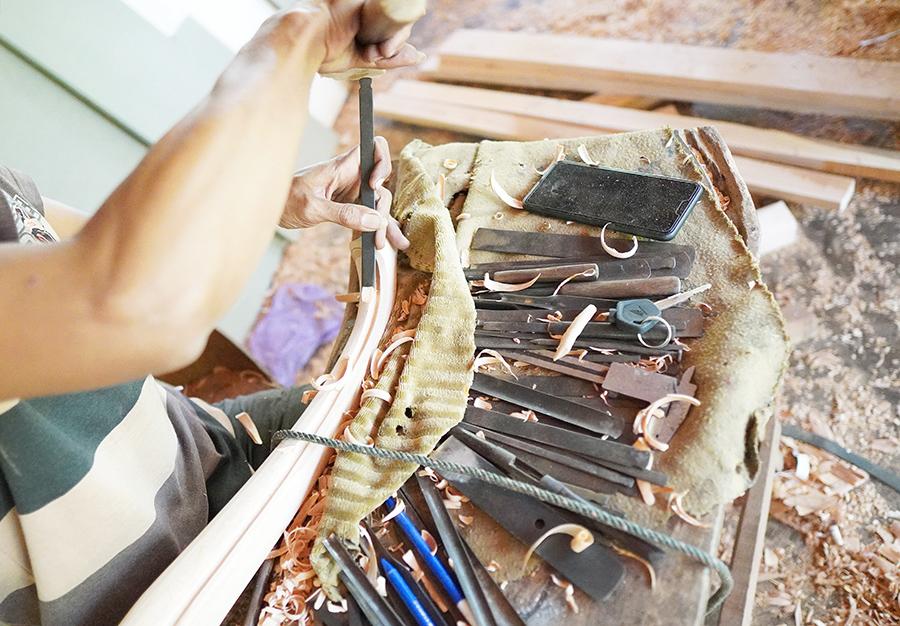 彫刻職人の仕事