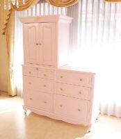 御仏壇 キャビネット型 薔薇の彫刻 バービーピンク色