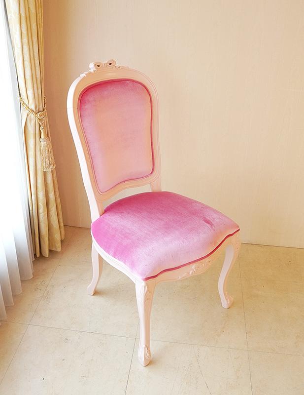 ピンク チェア