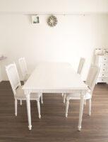 マダム・ココ ダイニングテーブル 180 フレンチホワイト色